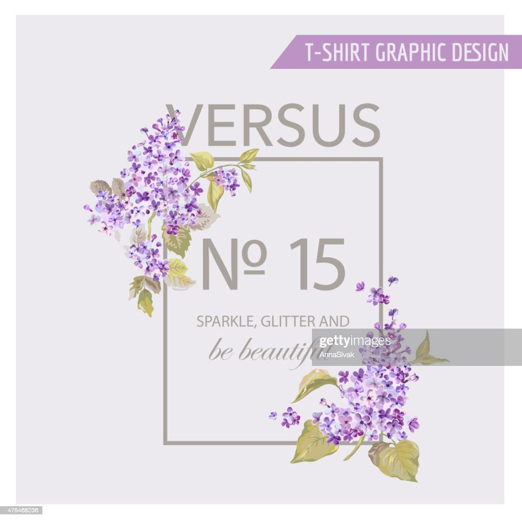 Floral Graphic Design - for t-shirt, fashion, prints