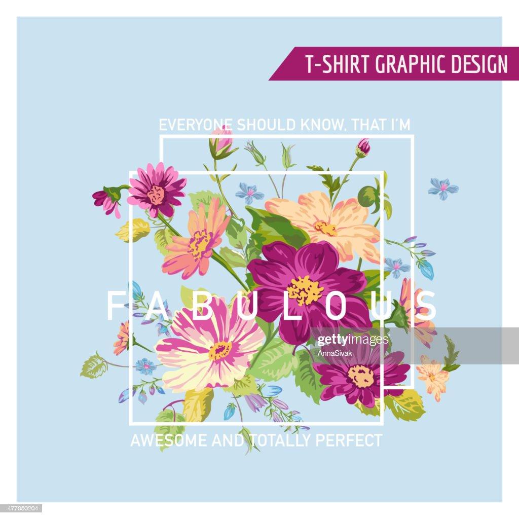 Floral Graphic Design - for t-shirt, fashion, prints