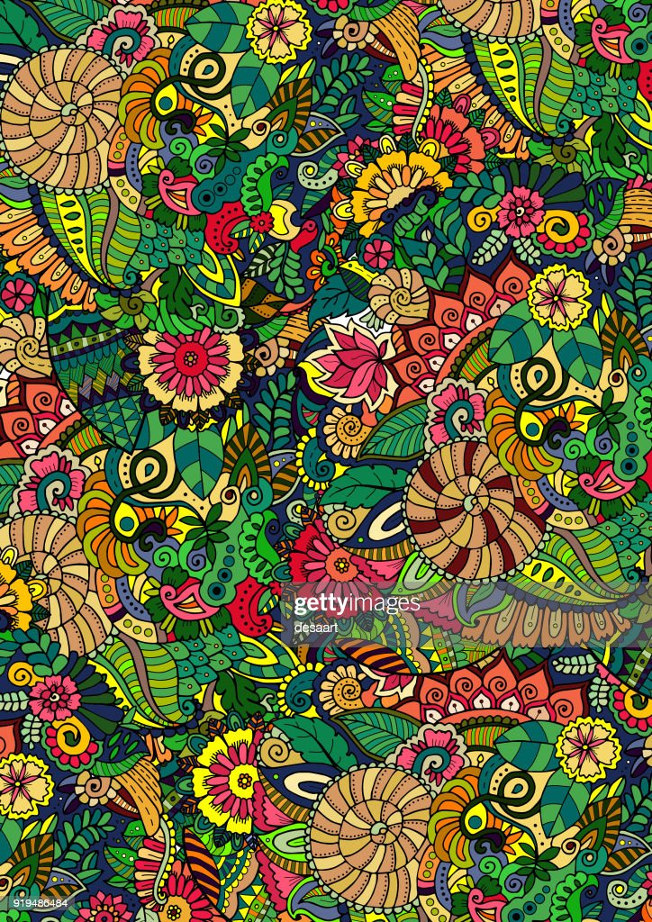 Floral green background pattern