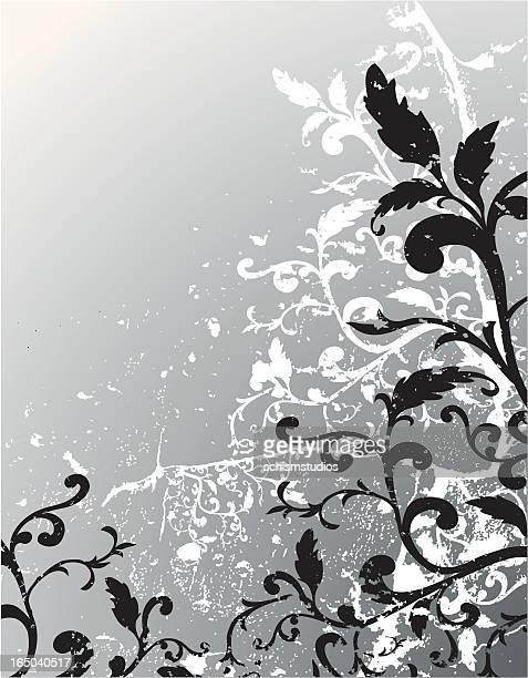 Floral fond Grunge