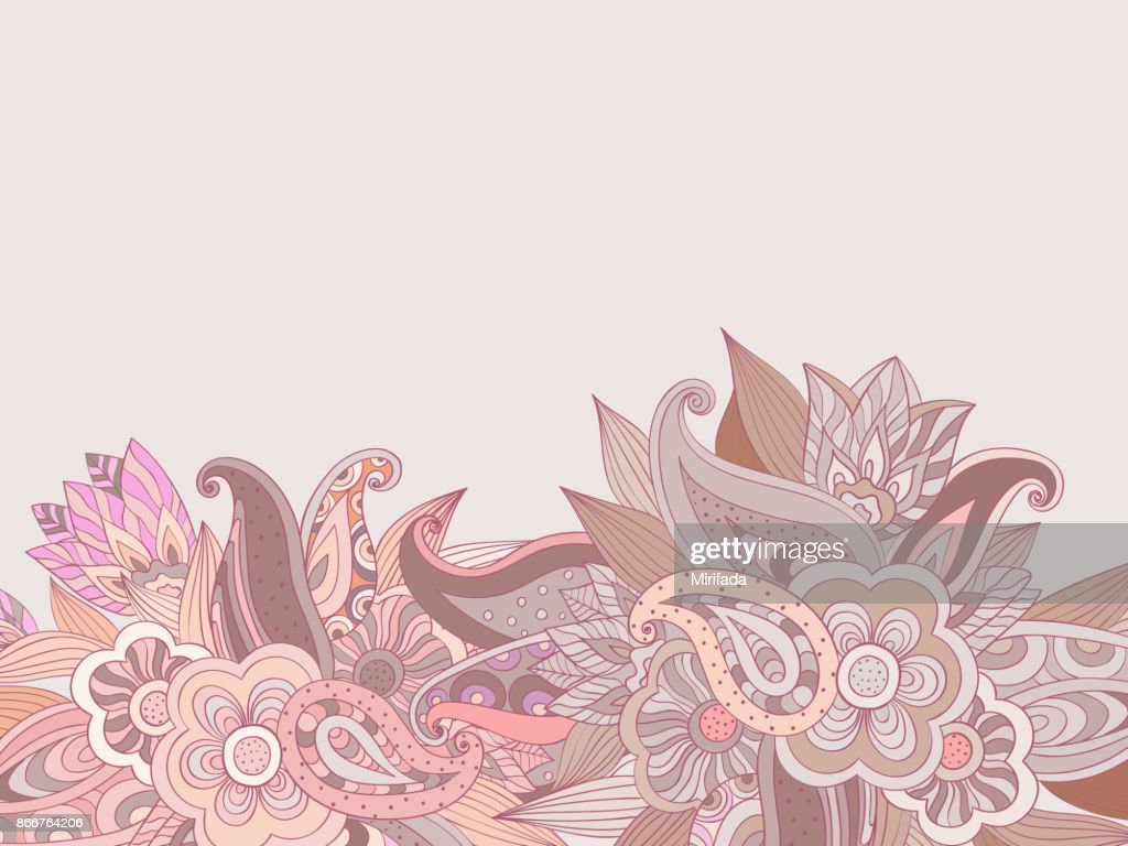 Floral Hand Drawing Background Vector Design High Res Vector