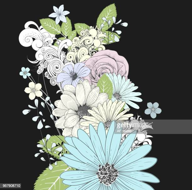Floral Handrawn Background