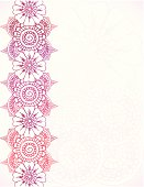 Floral Henna Border