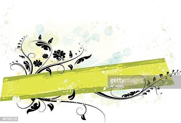 Floral horizontal banner