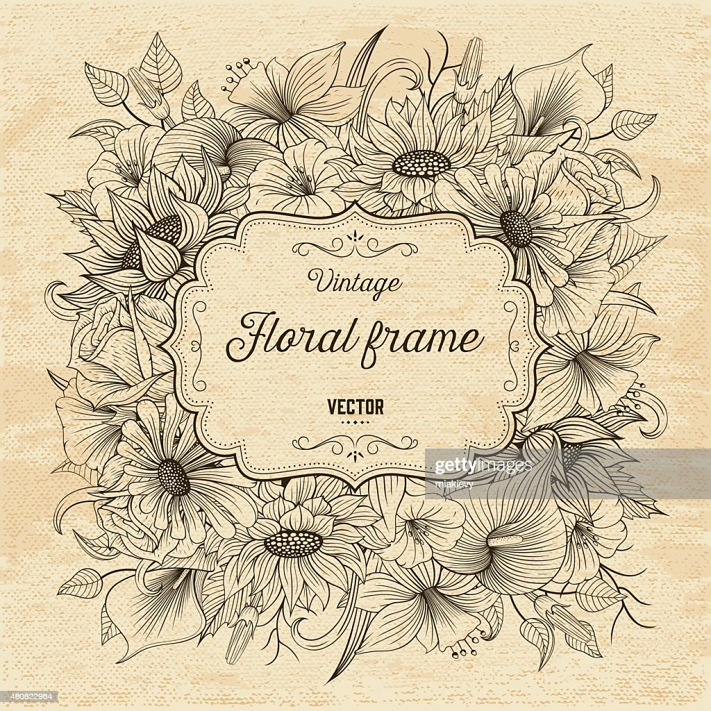 Floral invitation textured