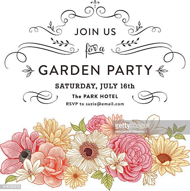floral invitation - single flower stock illustrations