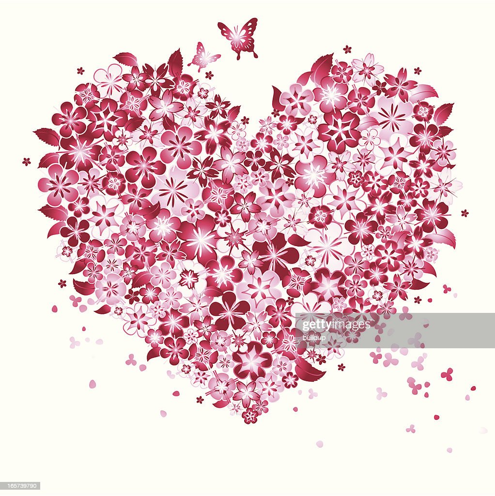Floral Love Shape