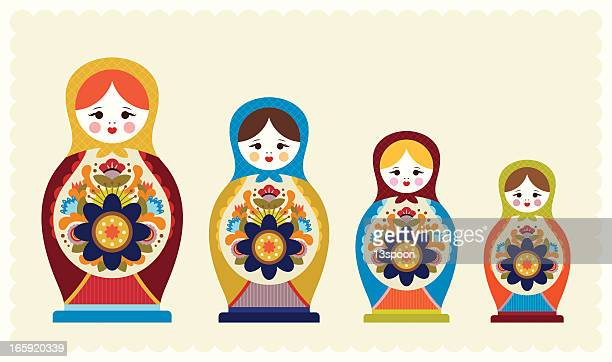 EPS Vector - Matryoshka doll or russian nesting doll with ornament. Stock  Clipart Illustration gg100662361 - GoGraph