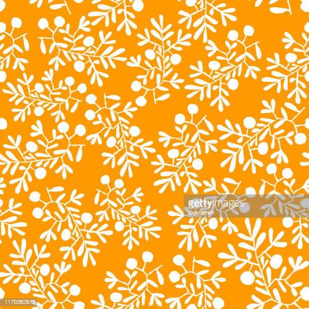 フローラルオレンジボヘミアンタイル。ベクトルタイルパターン、リスボンアラビア花モザイク、地中海シームレスオーナメント、幾何学的民俗装飾。部族民族ベクトルテクスチャ。 - イカット点のイラスト素材/クリップアート素材/マンガ素材/アイコン素材