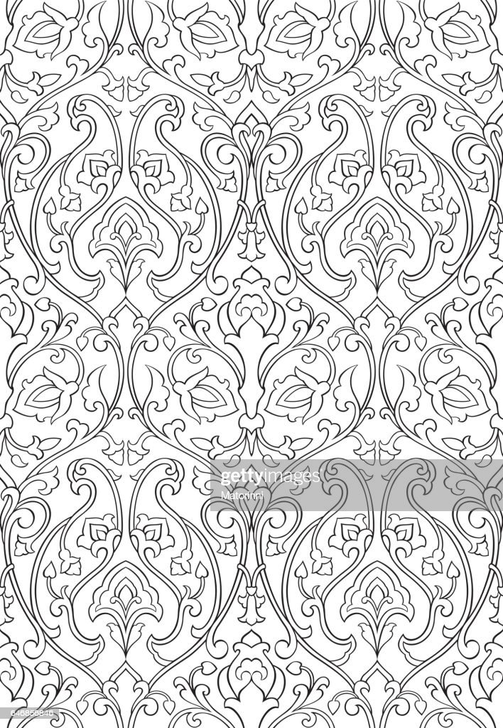 Floral ornament for wallpaper.