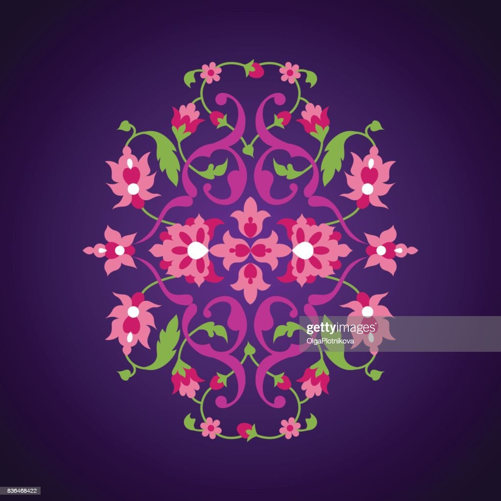 Floral ornament in oriental style.