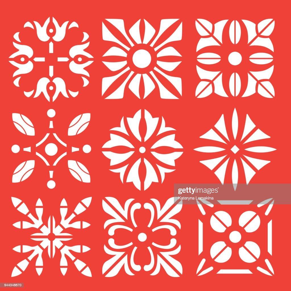 florale ornamente schablone vektorgrafik | getty images