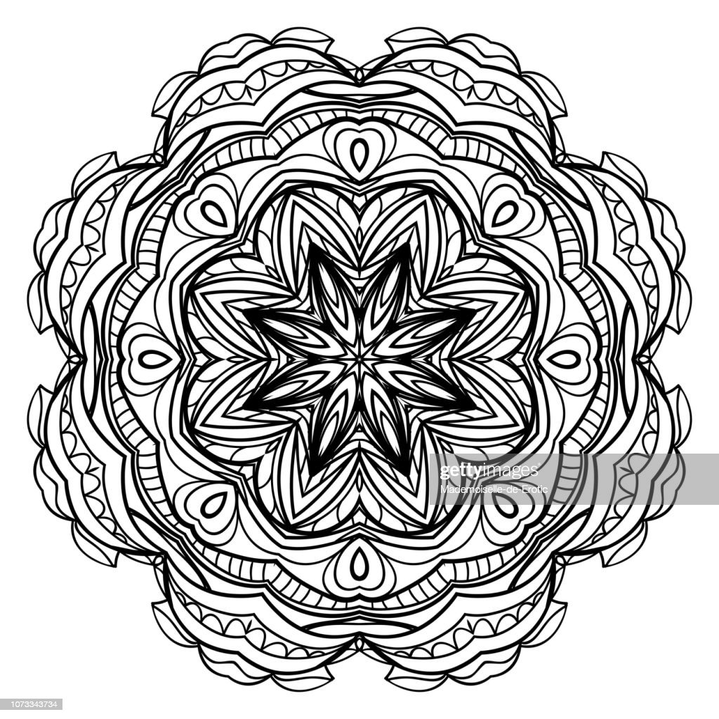 Floral ornament. Vector illustration. Can be used for greeting card, coloring book, phone case print.