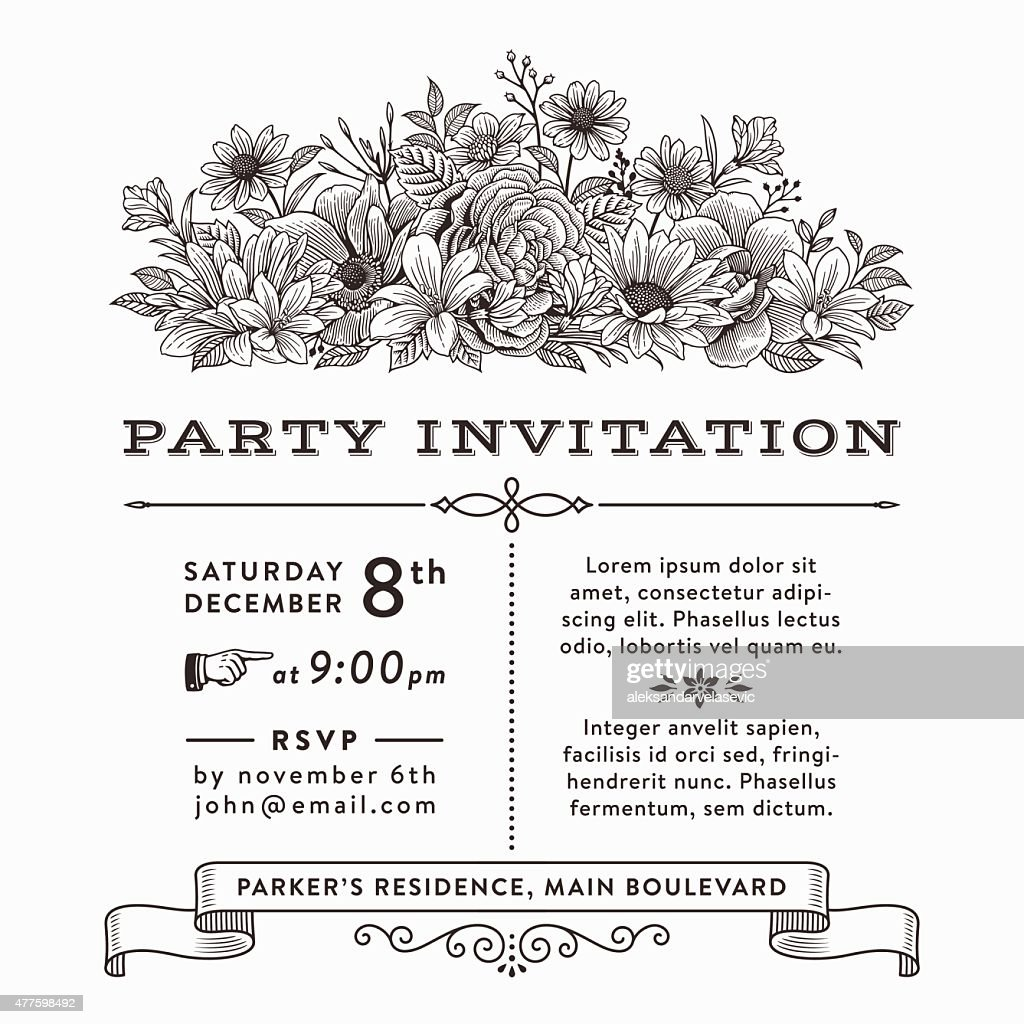 Floral Party Invitation