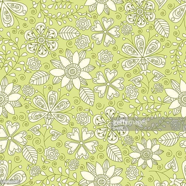 floral pattern _ exclusive to istockphoto - istock_photo stock illustrations