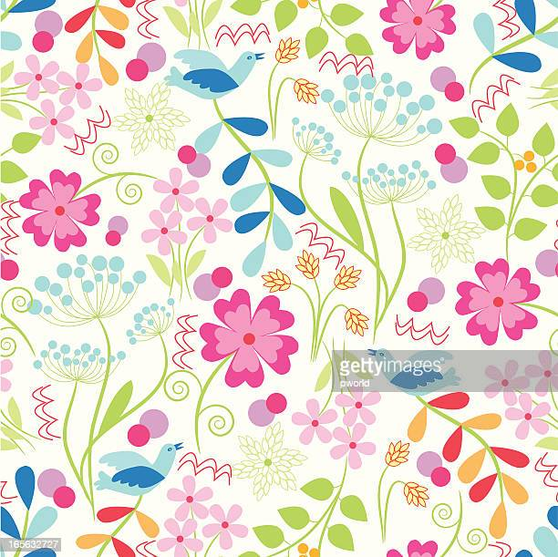 floral pattern - exclusive to istockphoto. - istock_photo stock illustrations