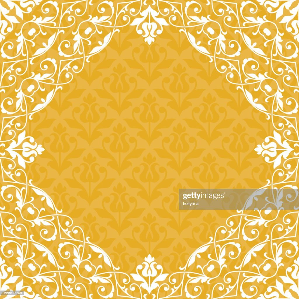 Floral pattern for invitation card.