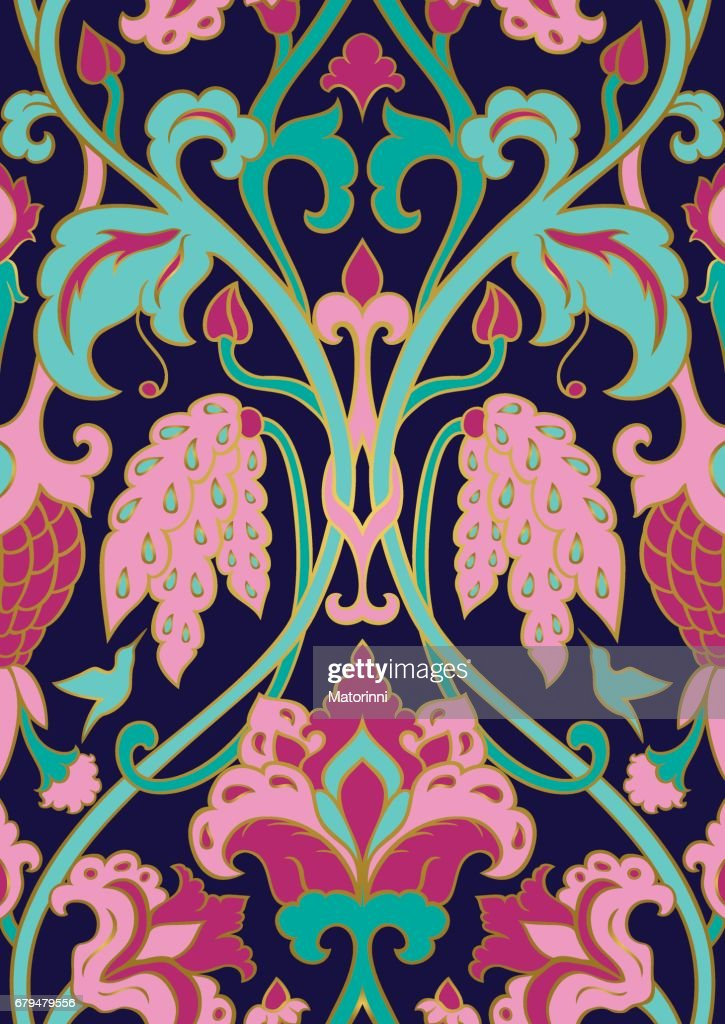 Floral pattern for wallpaper.