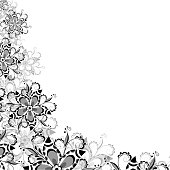 Floral pattern of abstract flowers