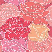 Floral pattern. Pink simple roses