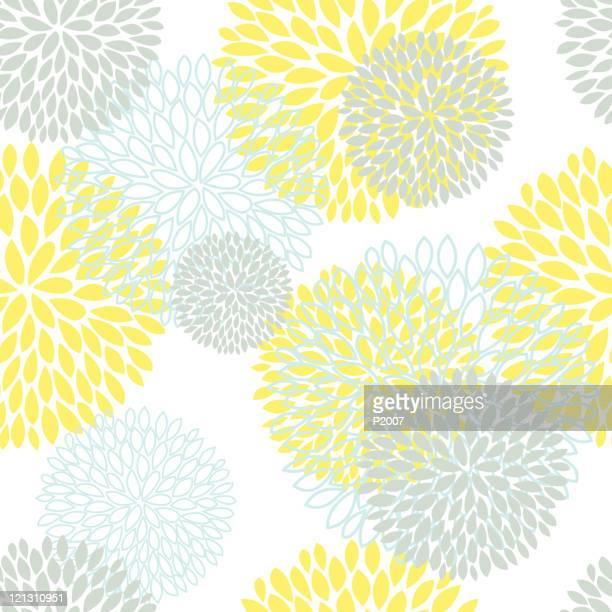 花柄シームレスな背景 - キク科点のイラスト素材/クリップアート素材/マンガ素材/アイコン素材