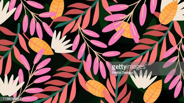 floral pattern, spring summer background - flower stock illustrations