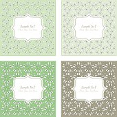 Floral pattern square backgrounds