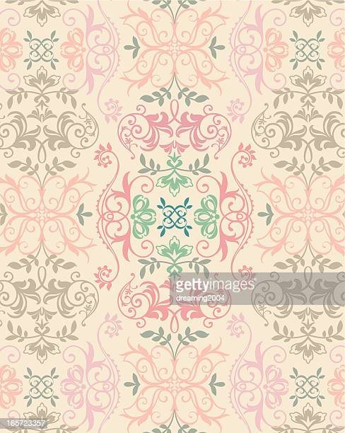 floral pattern - music style stock illustrations, clip art, cartoons, & icons