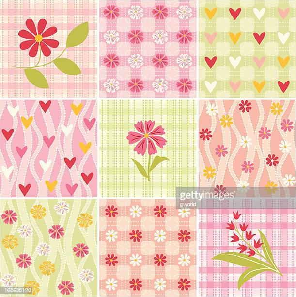 floral patterns - exclusive to istockphoto. - istock_photo stock illustrations