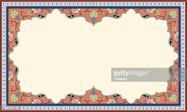 floral picture frame - embellishment stock illustrations