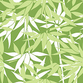 Floral seamless background. Bamboo leaf pattern.