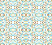 Floral seamless pattern. Flourish tiled oriental ethnic backgrou