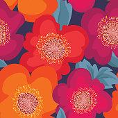 Floral seamless pattern. Flower background. Flourish bright ornamental texture