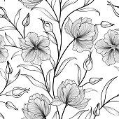 Floral seamless pattern Flower background Flourish garden sketch