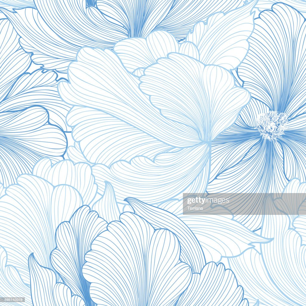 Floral seamless pattern. Flower background. Ornamenal texture with flowers.
