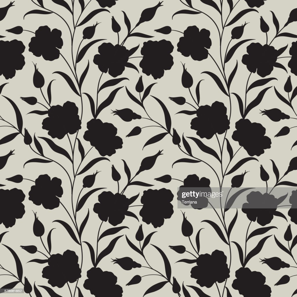 Floral seamless pattern. Flower background. Ornament with flowers.