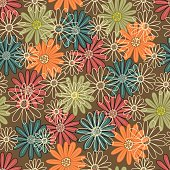 Floral seamless pattern .