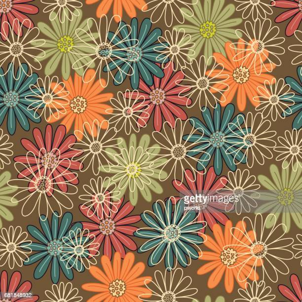 floral seamless pattern . - flirting stock illustrations, clip art, cartoons, & icons
