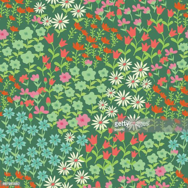 floral seamless pattern . - flower part stock illustrations