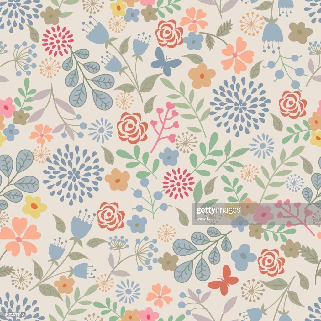 Floral Nahtlose Muster. : Stock-Illustration