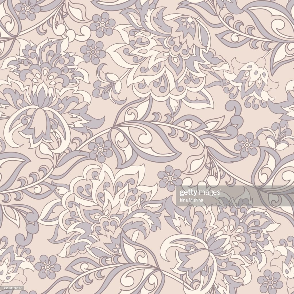 Floral Seamless Vector Pattern Baroque Style Wallpaper