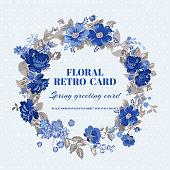 Floral Shabby Chic Card - vintage design