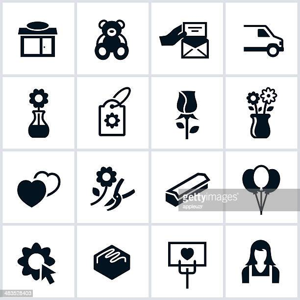 floral shop icons - vase stock illustrations, clip art, cartoons, & icons