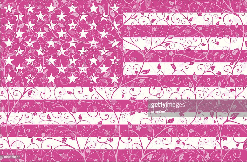 Floral Stars and Stripes