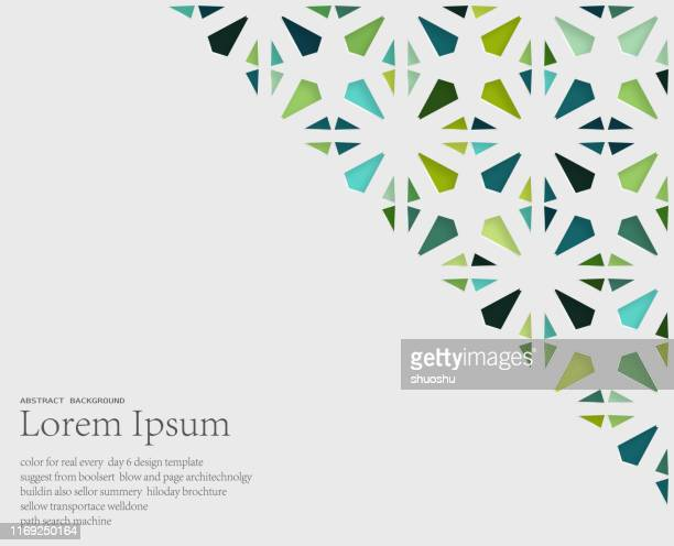 floral style hollow art ornate pattern background - paper decoration stock illustrations