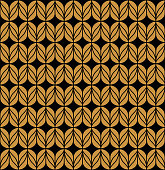 Floral Stylish Seamless Pattern. Geometric Vector Leaves Background.