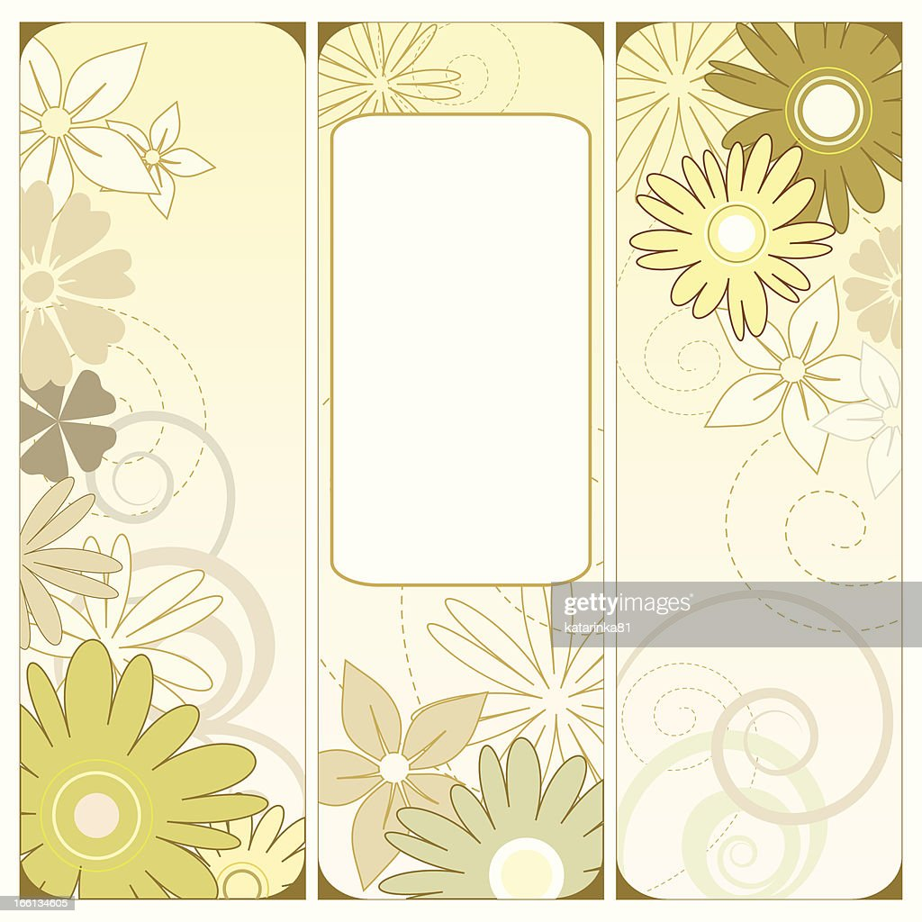 Floral triptych in green