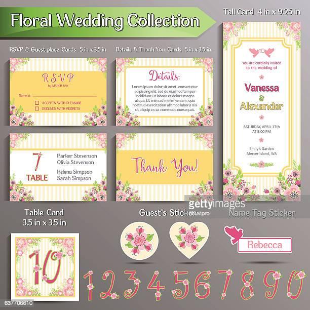 wedding invitation formatのベクターイラストとグラフィック素材