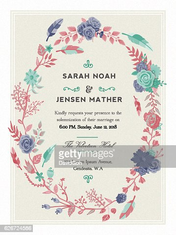 Elagant Wedding Invitation Vector Art Getty Images