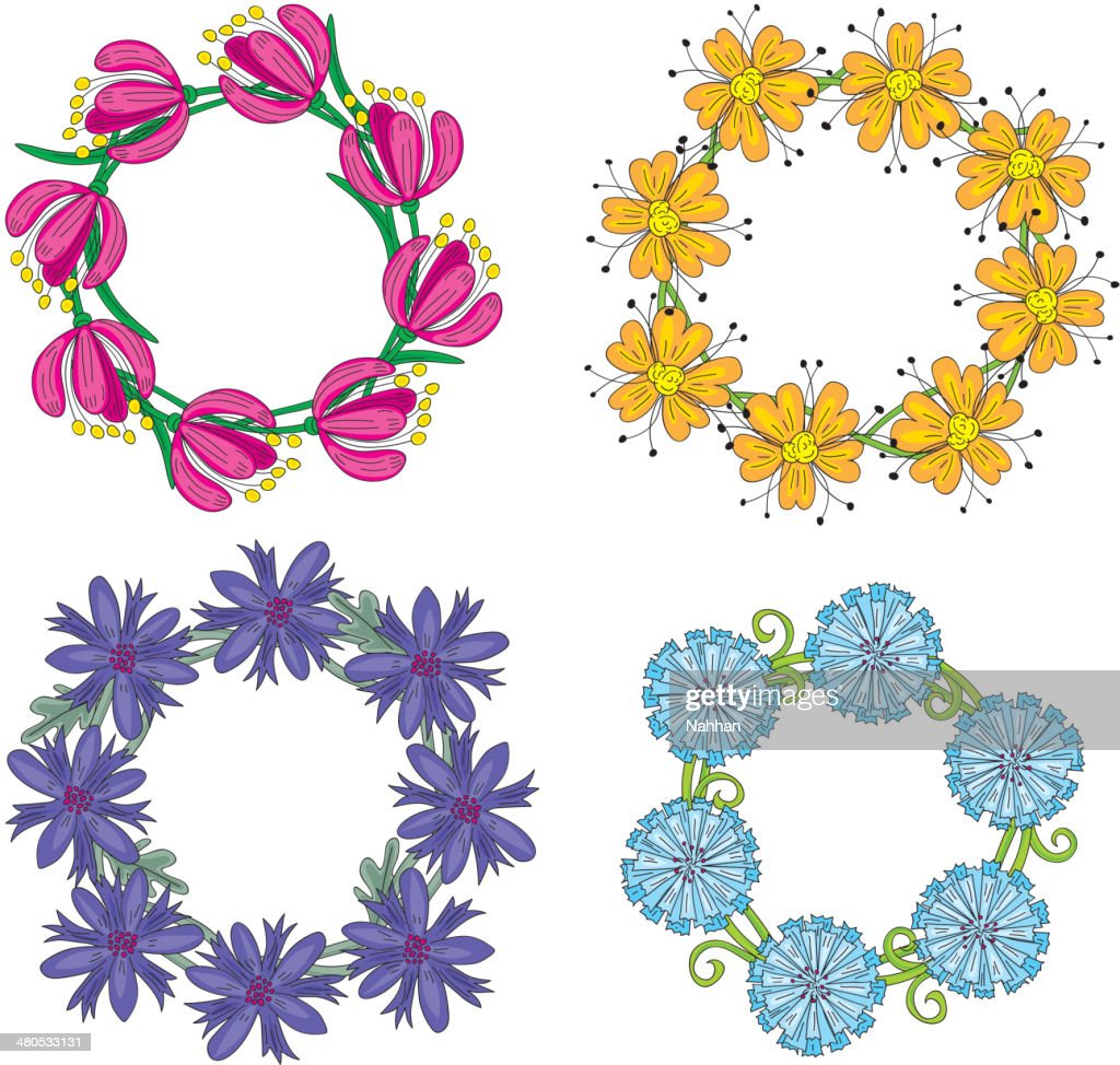 Floral wreaths : Vector Art